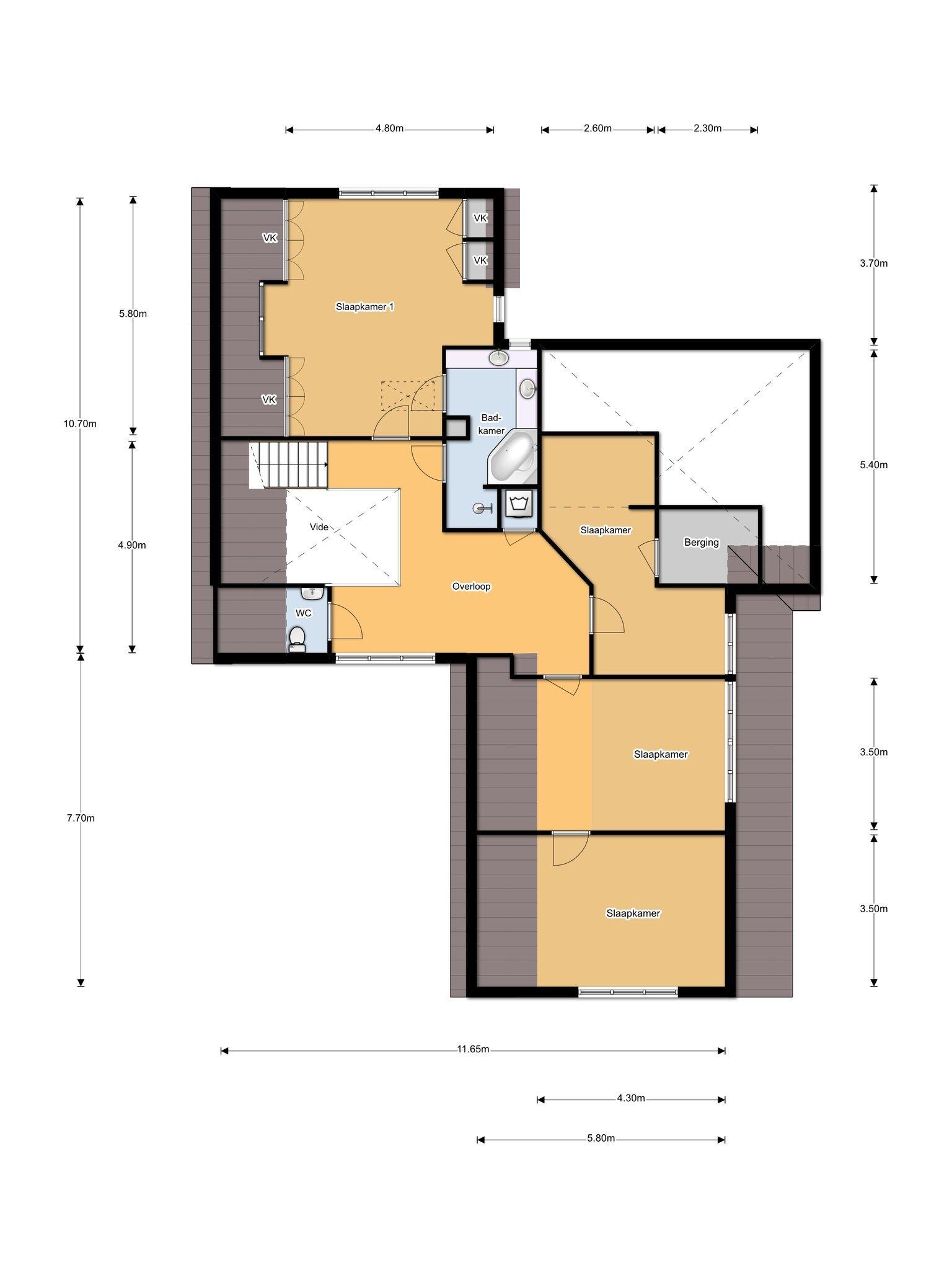 Plattegrond Burg Roosmale Nepveulaan 2