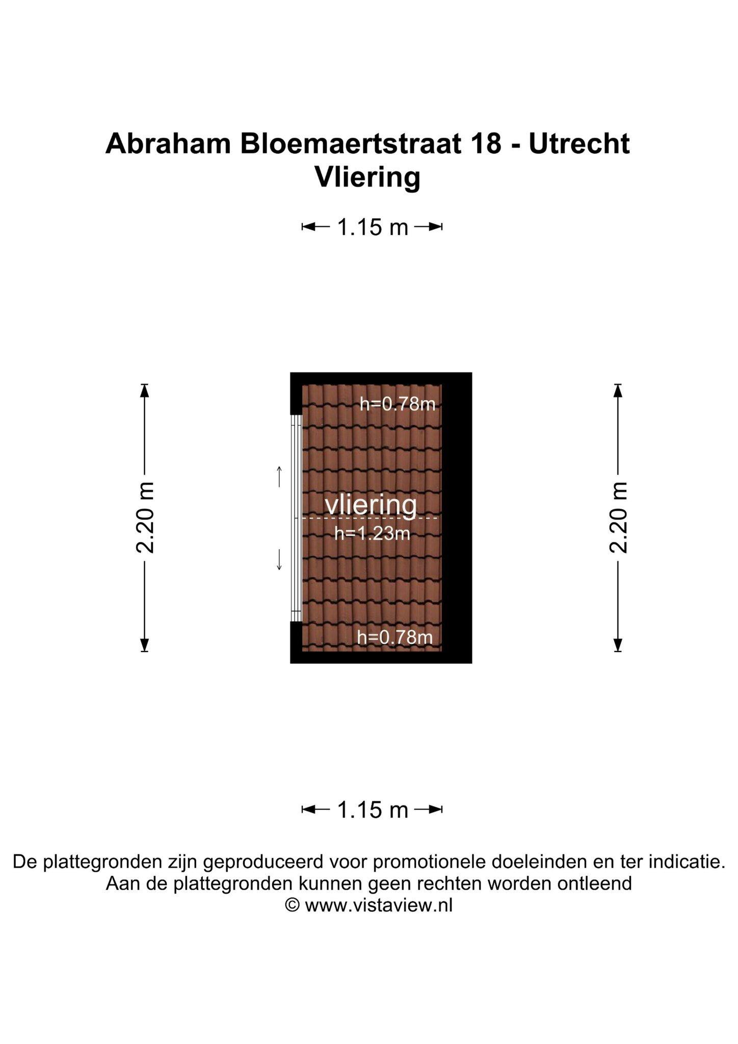 Plattegrond Abraham Bloemaertstraat 18