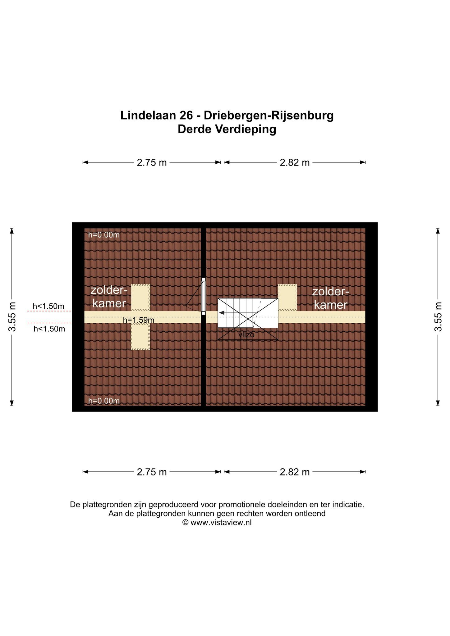Plattegrond Lindelaan 26