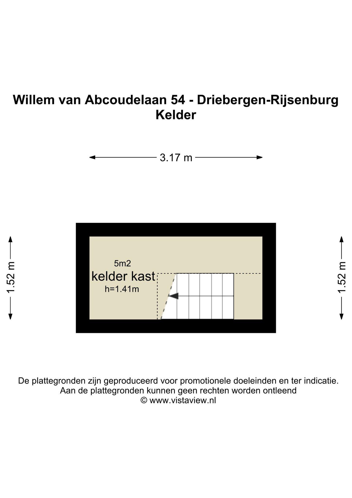 Plattegrond Willem van Abcoudelaan 54