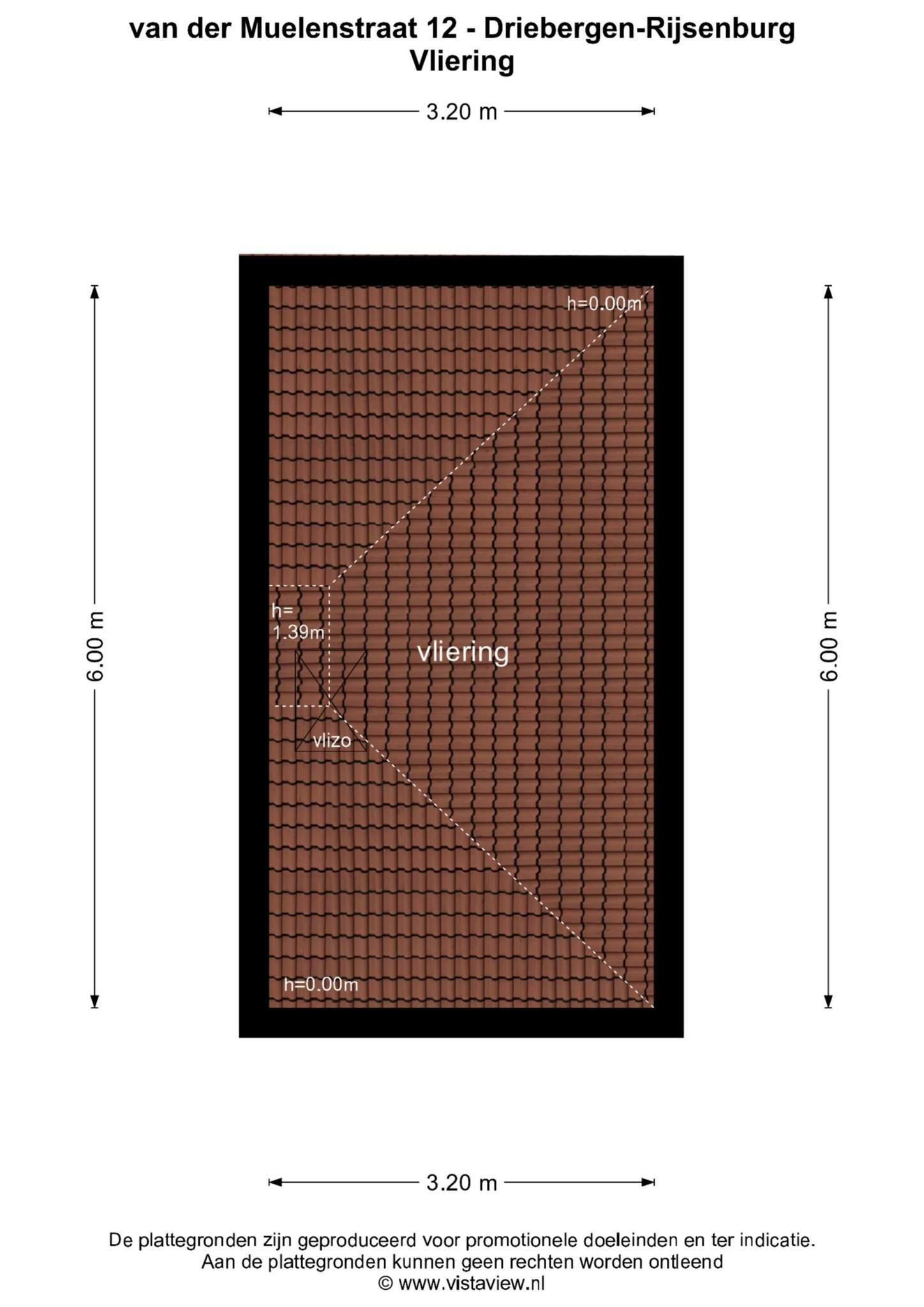 Plattegrond van der Muelenstraat 12